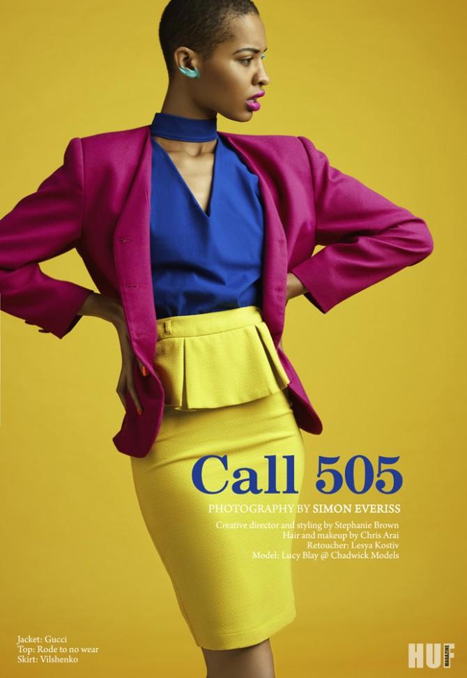 """Call 505"" editorial for HUF magazine'15"