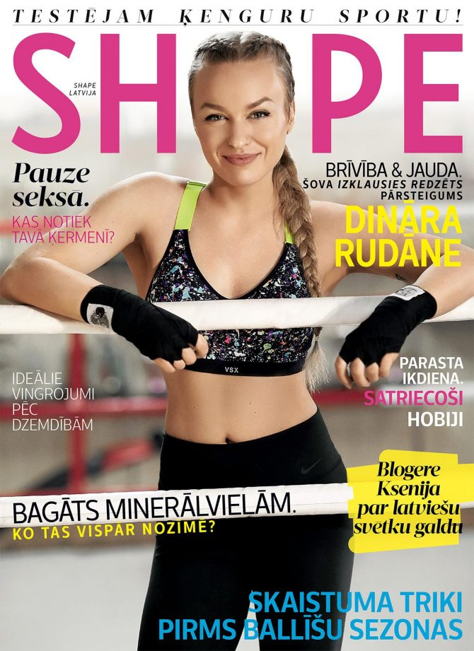 SHAPE magazine Latvia cover
